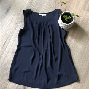 Navy blue tank top from the LOFT - size small